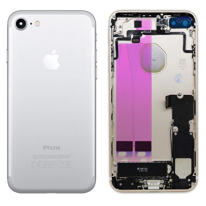 chassis complet coque arriere pour iphone 7 argent