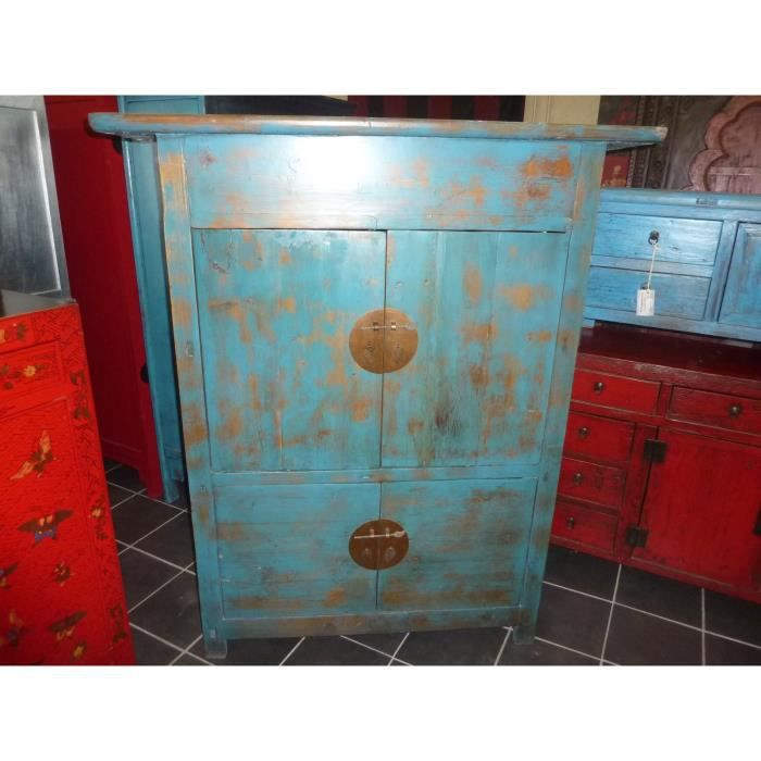 vieille armoire basse turquoise 4 portes achat vente. Black Bedroom Furniture Sets. Home Design Ideas