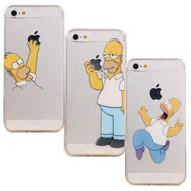 coque protection iphone 5c homer simpson