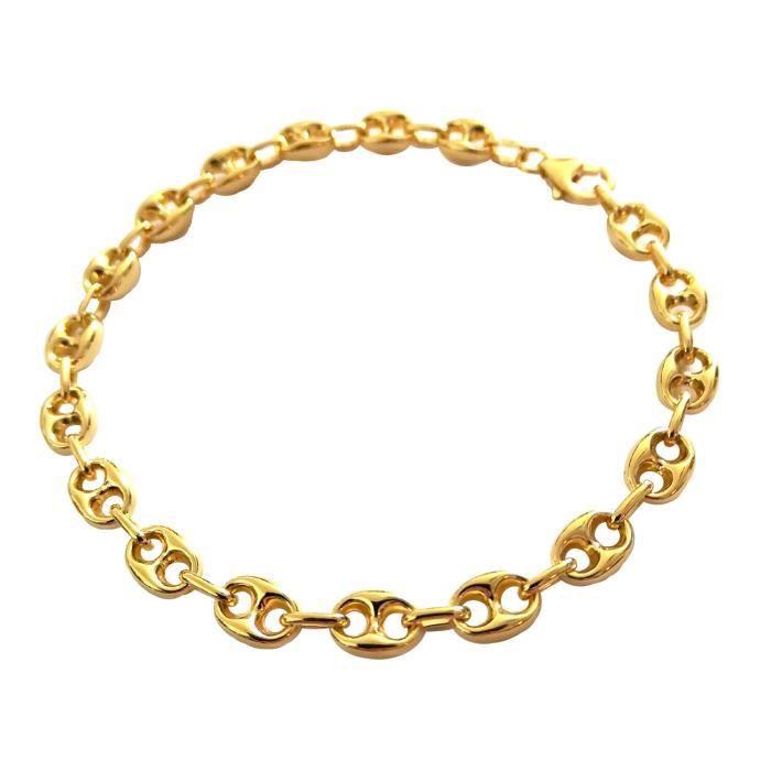 BRACELET - GOURMETTE Bracelet grain de café or 375/1000° (9 Carats)