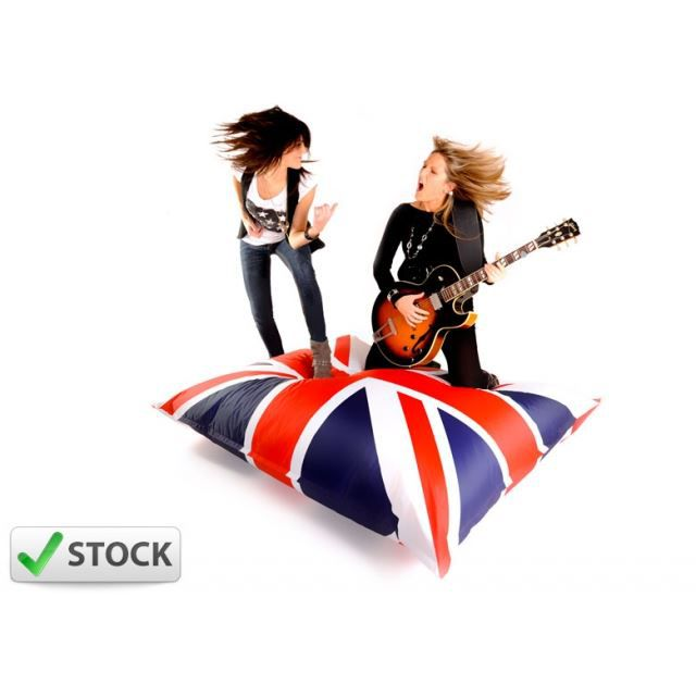 pouf big52 uk drapeau anglais achat vente pouf poire 100 polyester cdiscount. Black Bedroom Furniture Sets. Home Design Ideas