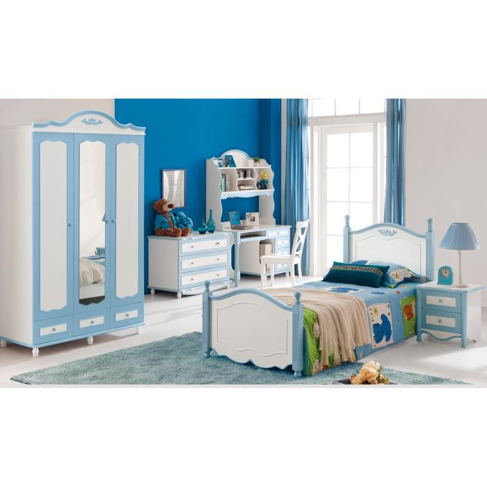 armoire chambre enfant romeo bleu achat vente. Black Bedroom Furniture Sets. Home Design Ideas