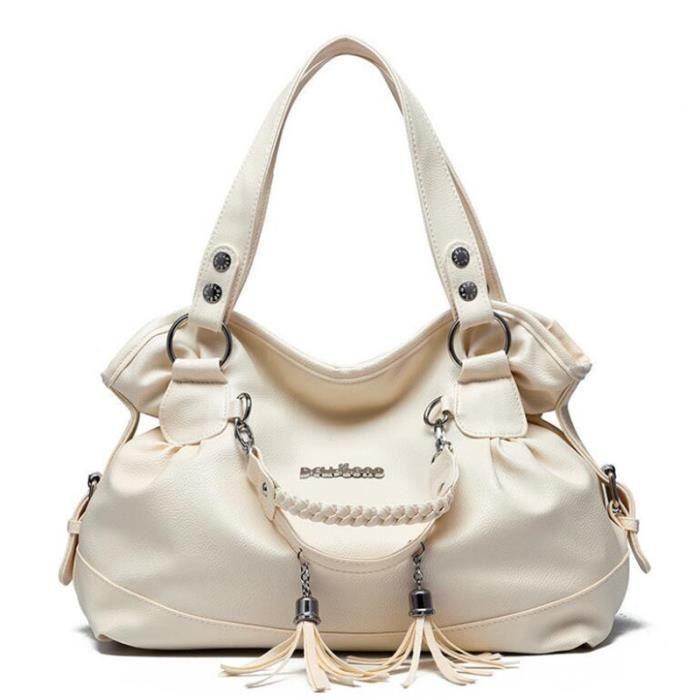 Sac à main cuir beige sac bandouliere meilleure qualité Sac Femme ...