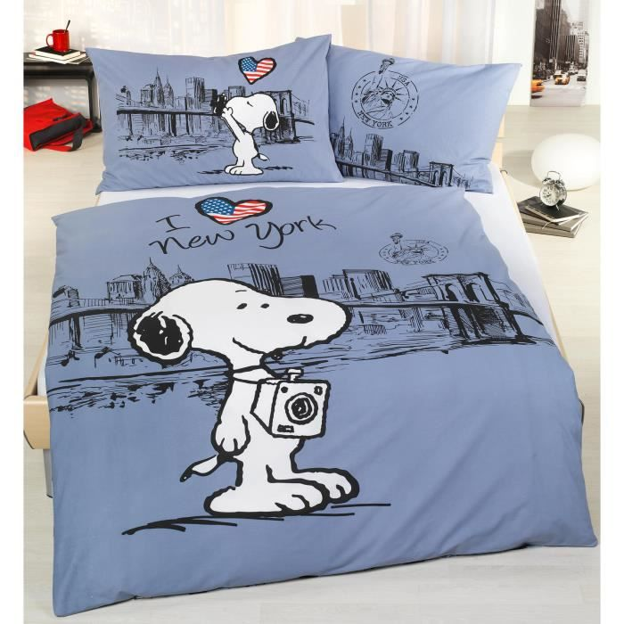 housse de couette snoopy achat vente housse de couette. Black Bedroom Furniture Sets. Home Design Ideas