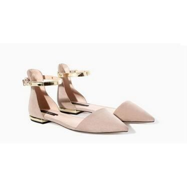 Achat Zara Plates Abricot Sandales Avec Sexy Des Chaussures ED2WH9I