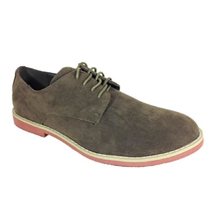 Suede Dress Buck Oxfords Lace Up Shoes (dak01) DIIY6 Taille-44