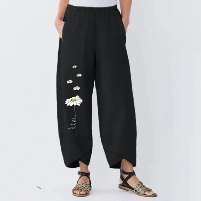 Daisy Dreamer Pantalon en lin /à taille /élastique pour femme