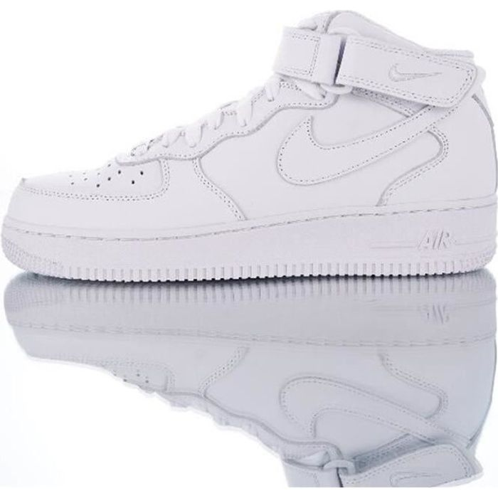 Baskets AIR Force 1 Mid blanc 315123-111 Chaussures de Running ...