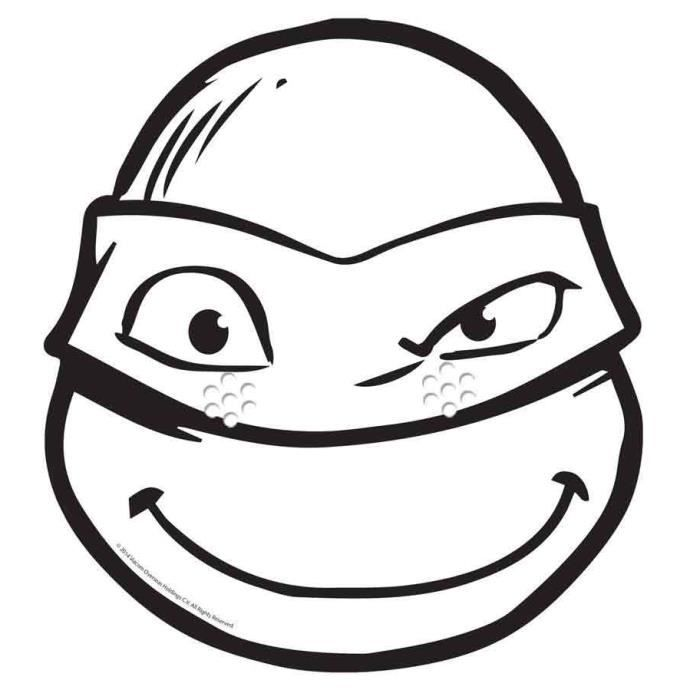 Masque Carton Adulte Donatello C Tortue Ninjaa Colorier Achat