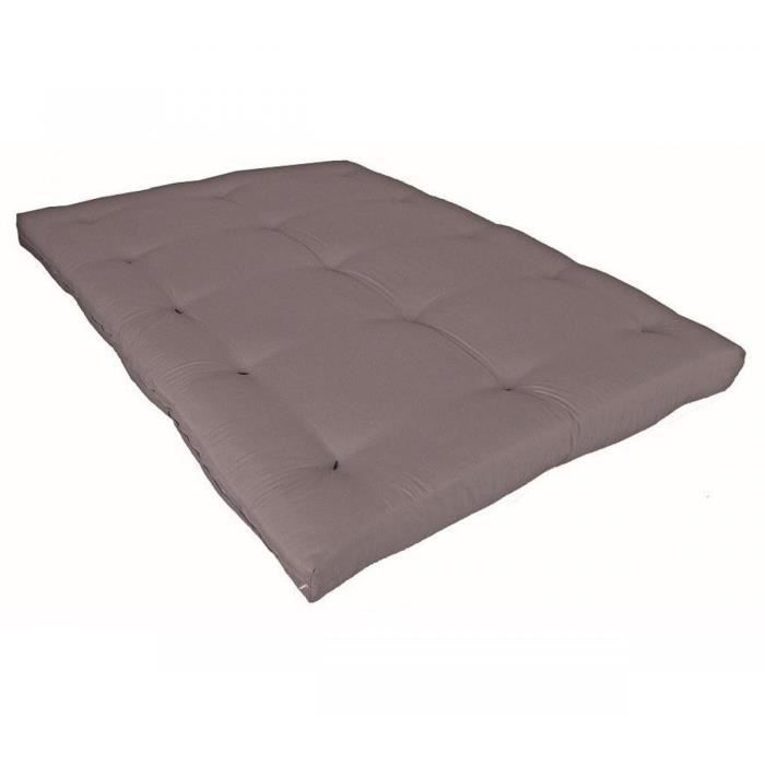 matelas futon taupe en coton 140x190 achat vente futon cdiscount. Black Bedroom Furniture Sets. Home Design Ideas