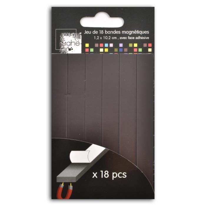 Bande magnétique auto-adhésif pour protection insectes portes et Cadre 13 x 1,6 mm Aimant