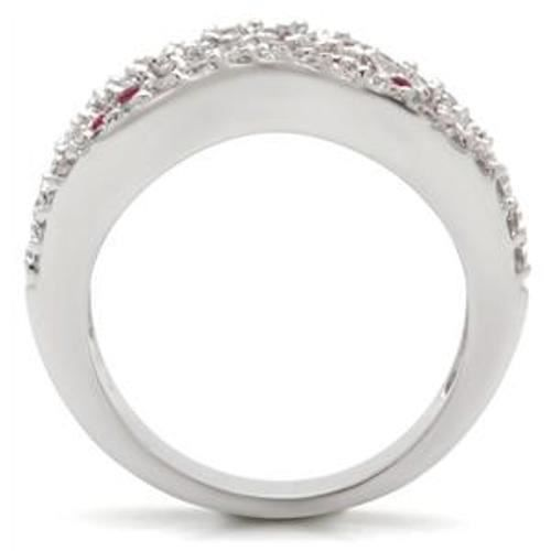 BestOfBijoux® Lia Red - Bague Femme - Bague Cocktail - Oxyde de Zirconium