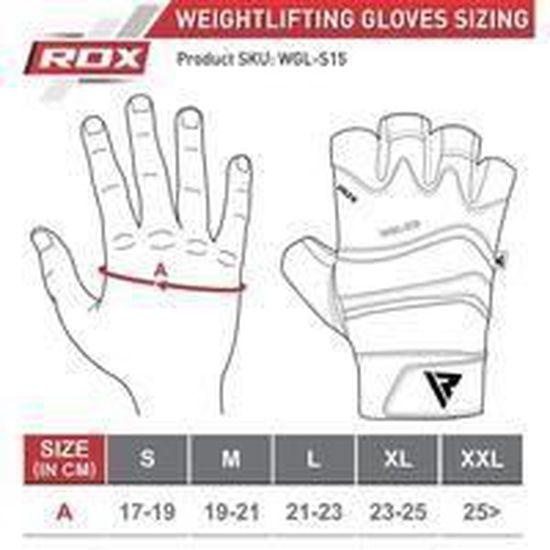 RDX Gants de Musculation Poignet Longue Workout Fitness Gymnastique Entrainement Cuir Vachette Powerlifter Halterophilie Gym Gloves