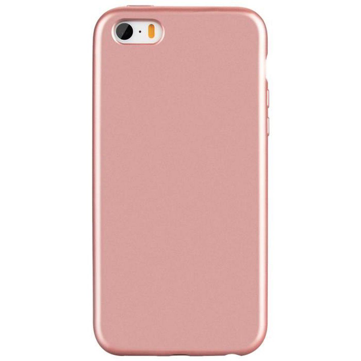 coque iphone 5s rose or gel silicone flexible doux