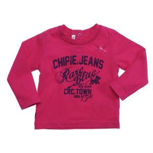 CHIPIE Tee-Shirt Bow Manches Longues Fille Fuchia