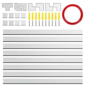 CACHE PRISES - CÂBLES Chemin de câbles,Profilé en PVC pour Circuits élec