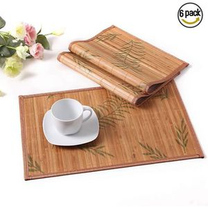 SET DE TABLE LOVECASA, Sets de Table 6 Pcs en Bambou,Napperons