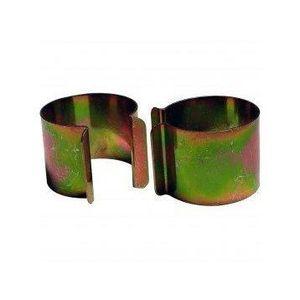 BACHE Lot de 20 clips métal revêtement Zinc 35mm x 30mm