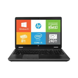 ORDINATEUR PORTABLE Pc portable HPZBOOK15 intel core i5 8go ram 240go