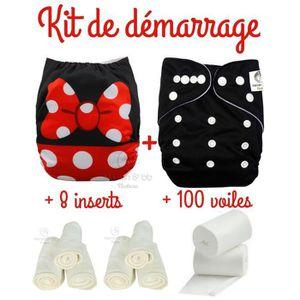 Pack de d/émarrage Couches lavables insert et voiles de protection Maman et bb Nature Kit Minnie