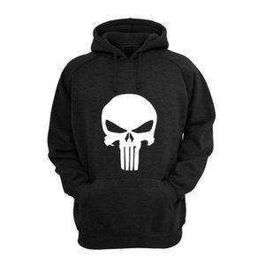 Sweat Shirt The Punisher Noir Achat Vente sweatshirt