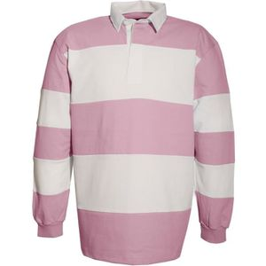 POLO Polo rugby homme rayé manches longues