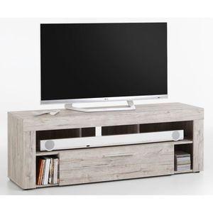 MEUBLE TV Meuble TV en MDF et panneaux de particules coloris