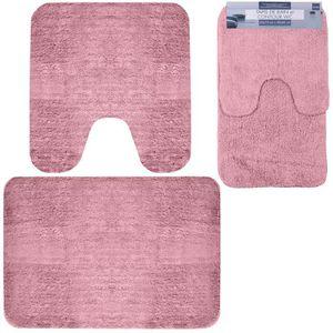 Tapis salle de bain rose