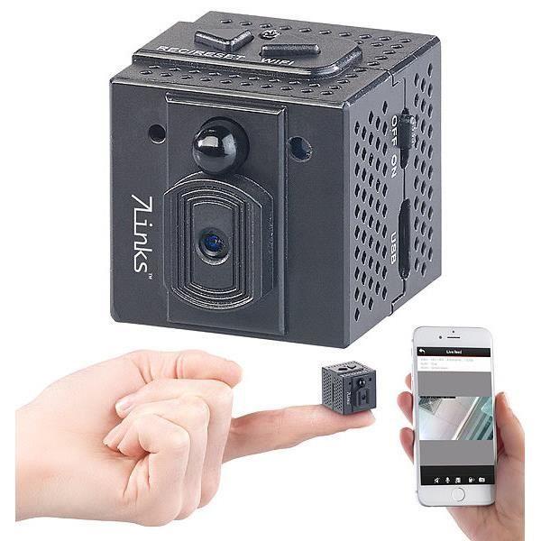 Micro caméra de surveillance IP HD à vision nocturne et application
