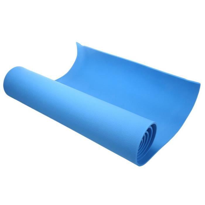 tapis de yoga tapis EVA 6 mm épais antidérapant fitness fitness perdre du poids tapis de jeu de plancher antidér-bleu
