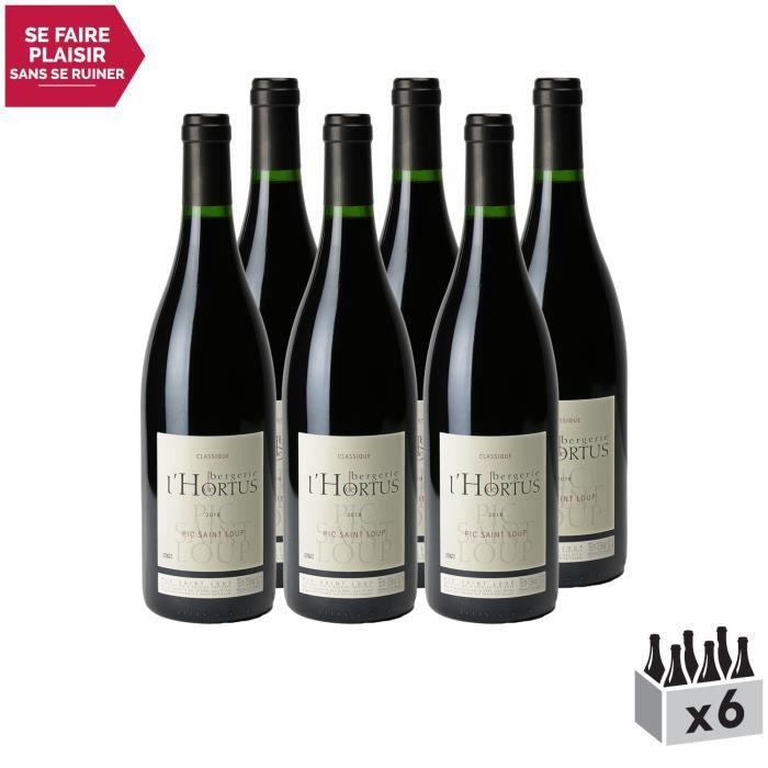 Pic Saint-Loup Bergerie de l'Hortus Classique Rouge 2018 - Lot de 6x75cl - Domaine de l'Hortus - Vin AOC Rouge du Languedoc -
