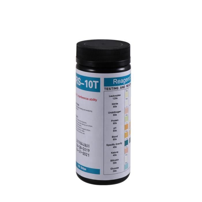 1 bouteille de bandelettes de test de cétone testeur d'urine jetable mesure cétogène GROUND MAT - GYM MAT - YOGA MAT