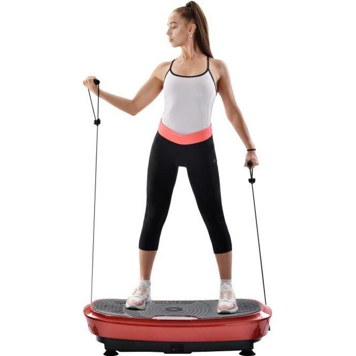 Merax 3D Fitness Plateforme Vibrante et Oscillante Double Moteur pour Musculation et Perte de Poids - Rouge