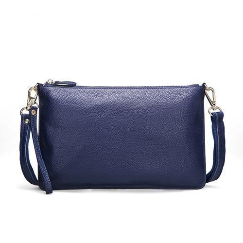 Sapphire blue -Sac à main en cuir véritable pour femmes, sacoche d'été à bandoulière, pochette