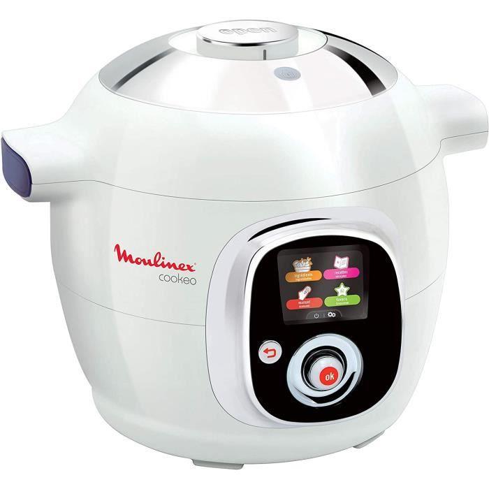 Moulinex Multicuiseur Intelligent Cookeo 6L 6 Modes de Cuisson 100 Recettes Préprogrammées Jusqu'à 6 Personnes Blanc CE704110