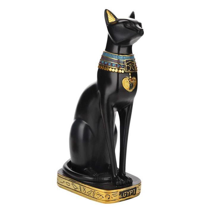 Statue en résine représentant un chat égyptien pour la maison, le jardin, décoration de maison, décoration de jardin, S