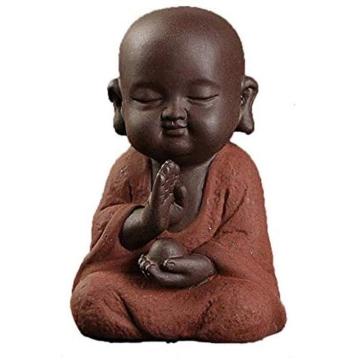 TTE ZCQBCY Statue Bouddha Sculpture Statuette Exterieur Bouddhisme Interieur Deco Jardin Miniature Statues Ornement Petit Moine 81