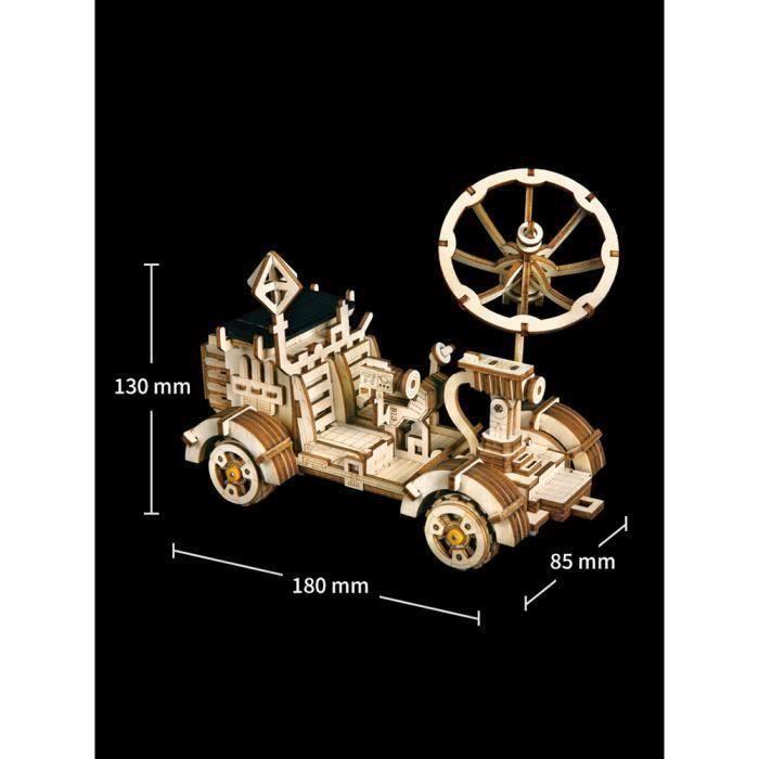 Bricolage Modèle de Construction Jeu de Puzzle 3D Solaire Moon Buggy Maquette Mechanical Assemblage Kit de Construction Jouet Cadeau