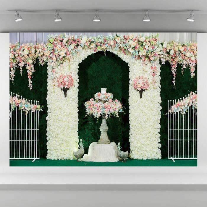 Mariage Studio toile de fond Photo fond tissu Festival Studio 0.9x1.5m fleur mur photographie toile de fond photographie