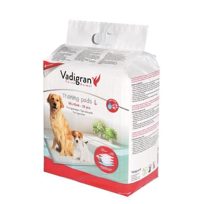 VADIGRAN Tapis éducateurs - 60 x 45 cm - 28 pièces - Pour chiens (Lot de 2)