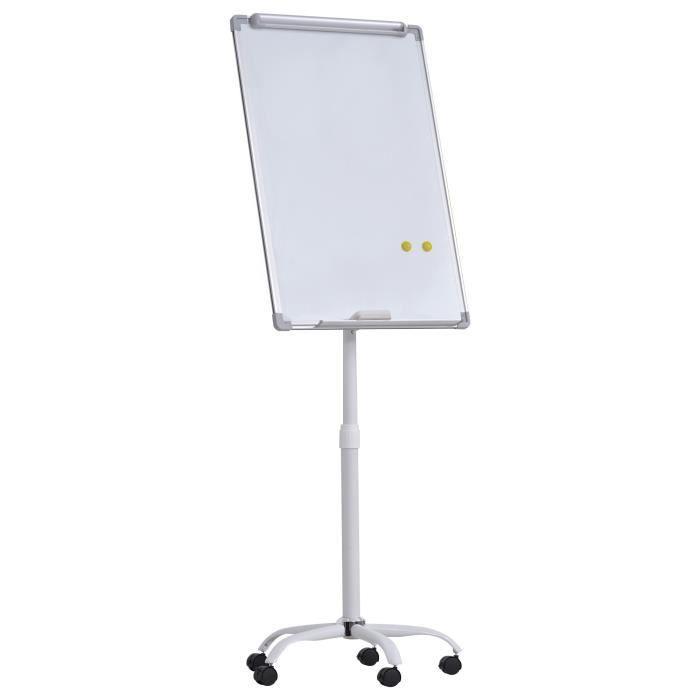 Chevalet de conférence mobile - tableau blanc effaçable,...