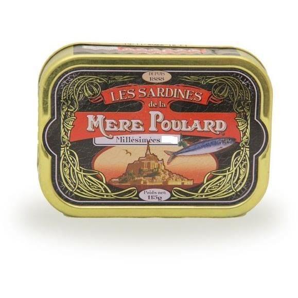 Biscuiterie la Mère Poulard Sardines Millésimées A L'Huile D'Olive (Noir) 115g