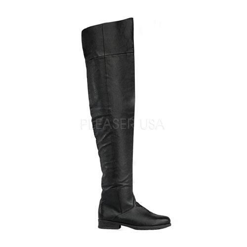 Funtasma MAVERICK-8824 1 1/2 Inch Heel, Men's Thigh Hi Pig Lea Boot