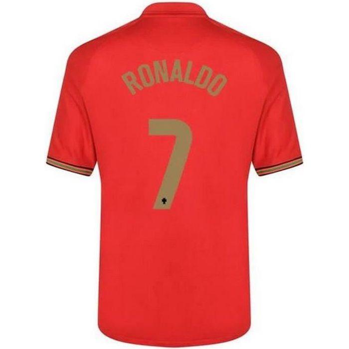 Nouveau Maillot Officiel de Football Enfant Nike Portugal Domicile Euro 2020 Flocage Officiel Numéro 7 Ronaldo