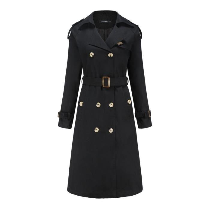 Manteau Femme Manteau Vêtements À Manches Longues Noir