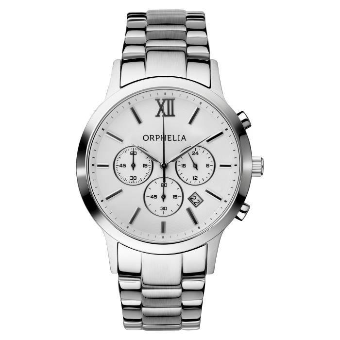 ORPHELIA - Montre Homme - Quartz Chronographe - Bracelet Acier inoxydable Argent - 155-7900-18