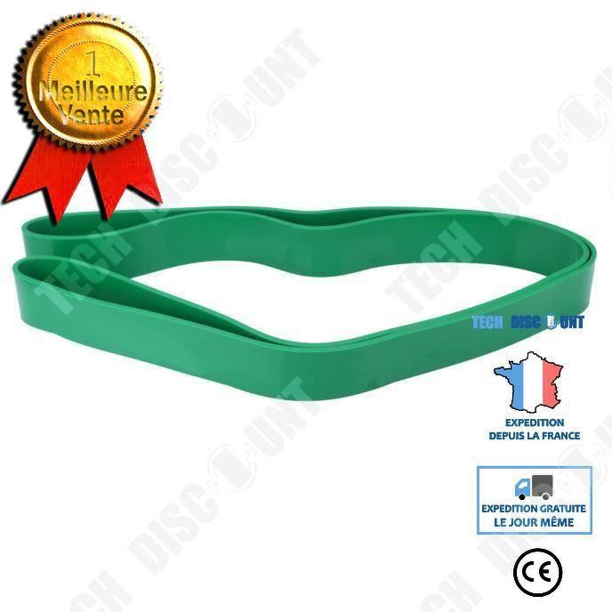 TD® Bande Élastique de Cross-fit -Harnais de résistance- Bande de latex Body gym Extenseur- Entraînement fitness Multifonction Verte