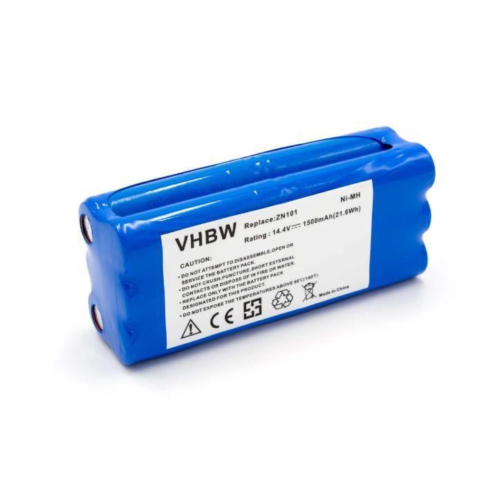 vhbw NiMH batterie 1500mAh pour robot aspirateur Dirt Devil Fusion, Libero, M606, M606-1