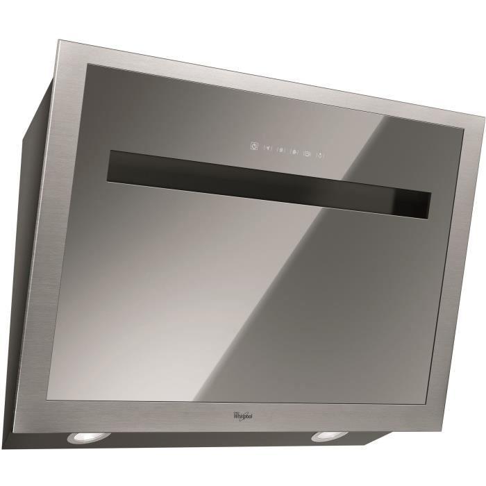 WHIRLPOOL - AKR808MR - hotte déco 80cm verticale effet miroir
