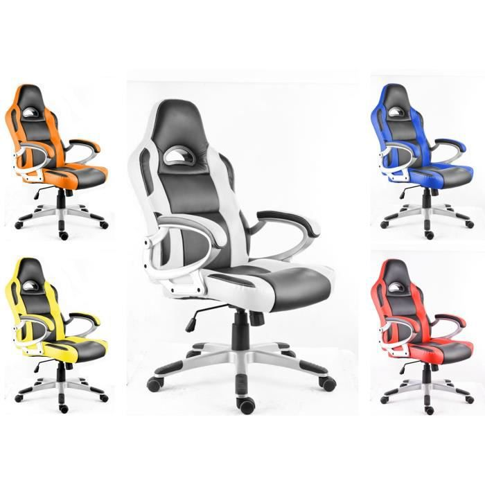 polironeshop monza chaise de bureau fauteuil si ge pour ordinateur racing gamer sport gaming. Black Bedroom Furniture Sets. Home Design Ideas